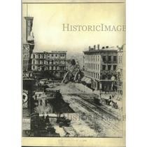 1870 Press Photo Gimbel's store now stands to the left of the bridge Milwaukee