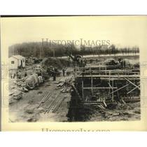 1934 Press Photo Fort Atkinson, Wisconsin construction of sewage disposal plant
