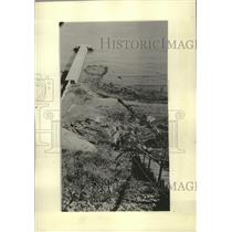 1934 Press Photo Construction on storm relief sewer system in Cudahy, Wisconsin.