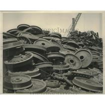1940 Press Photo Wheels which will be turned into fighting equipment for Germany