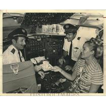 1970 Press Photo Continental Pilot Captain Plenggenkuhle Flies Last Flight
