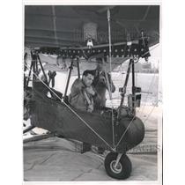 1957 Press Photo David Masters in Mark I Light Aircraft, England - mjm05386