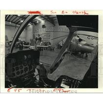 1979 Press Photo View of Heliflight Systems from inside a Helicopter in TX