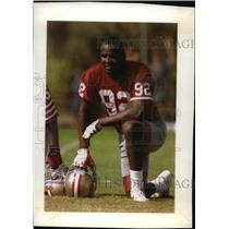 1992 Press Photo 49ers football player, Tim Harris - mjt04062