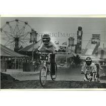 1983 Press Photo BMX racers compete at the Waukesha County Fair - mjt03270