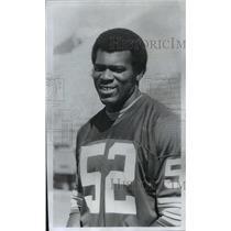 1976 Press Photo Green Bay Packers football linebacker, Gary Weaver - mjt04000
