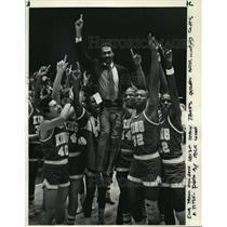 1984 Press Photo Rufus King High School basketball team wins Class A title