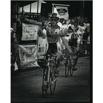 1992 Press Photo Bicycle rider Mike McKenna wins the Lakefront Road Race