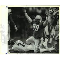 1991 Press Photo Houson Oilers and Denver Broncos play NFL football - sas16163