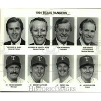 1994 Press Photo Texas Rangers baseball mug shots - sas15670