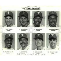 1994 Press Photo Texas Rangers baseball mug shots - sas15671