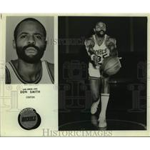 Press Photo Houston Rockets basketball center Don Smith (Zaid Abdul-Aziz)