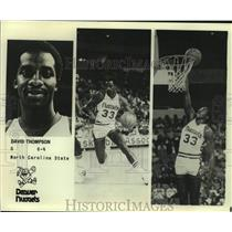 Press Photo Denver Nuggets basketball player David Thompson - sas16215