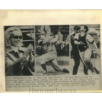 1968 Press Photo Mrs. Carmen Berra cheers for son, Larry Berra on diamond now