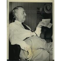1949 Press Photo Big State Baseball League president J. Walter Morris