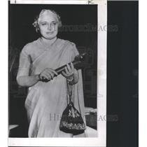 1953 Press Photo UN pre Mrs Vijaya Lakshmi Pandit India - RRX87311