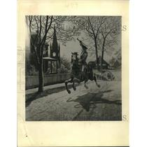 1942 Press Photo Painting of Paul Revere's famous ride in 1775 - mjx66268