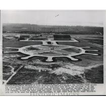 1954 Press Photo Fort Eustis, Virginia, First military heliport to be dedicated