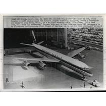 1966 Press Photo Roll out ceremony for Douglas Super 61 DC-8 commercial jet.