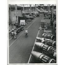 1955 Press Photo Room of Lockheed Aircraft Corporation's giant Marietta plant