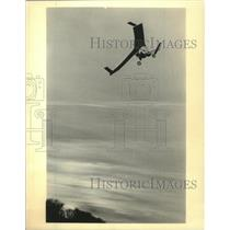 1984 Press Photo Pat Hirst flying thru the air - mjx57340