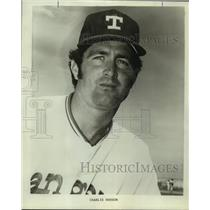 1973 Press Photo Texas Rangers baseball player Charlie Hudson - sas11470