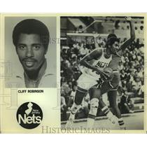 Press Photo New Jersey Nets basketball player Cliff Robinson - sas12936