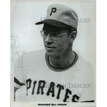 1973 Press Photo Pittsburgh Pirates baseball player, Bill Virdon - mjt04620