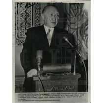 1953 Press Photo Chancellor Konrad Adenauer at National Press club luncheon