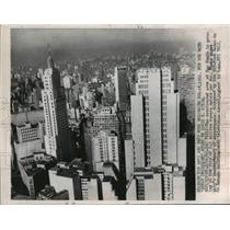 1962 Press Photo skyline of Sao Paulo, Brazil skyscrapers - mjw01391