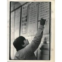 Press Photo Vincent Pasquale at Schenectady New York Off Track Betting.