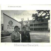 1986 Press Photo Pat Mackey & Diana Lewis Southeast Louisiana Girl Scout Council