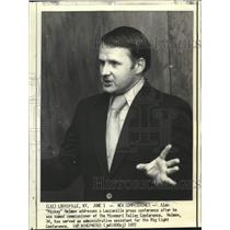 """1972 Press Photo Alan """"Mickey"""" Holmes, Missouri Valley Conference Commissioner"""