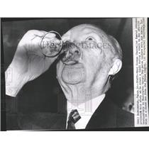 1960 Press Photo West German Chancellor Konrad Adenauer - RRX96825