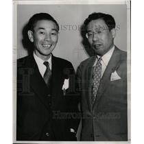 1953 Press Photo Japanese Consul General With Aide - RRW98943