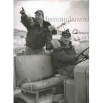 1962 Press Photo Milton Padgett, John B. Gay in jeep, Alabama Air National Guard