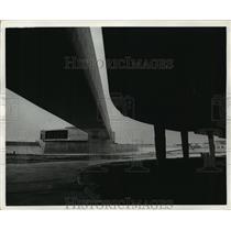 1968 Press Photo View of flight station at Houston Intercontinental Airport