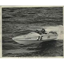 1967 Press Photo Ron and Bud Tuppen of Lake Worth Florida in their Yellowbird