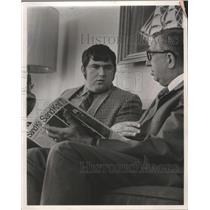 1970 Press Photo Tom Dempsey, place kicker for the New Orleans Saints