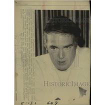 1971 Press Photo Los Angeles Rams football coach Chuck Knox - sas17258