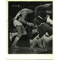 1984 Press Photo San Antonio Spurs basketball player Mark McNamara - sas17372