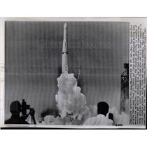 1960 Press Photo Thor Able Star Missile Roars Satellite - RRX62159