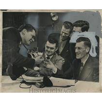 1952 Press Photo Elmer Richardson and others Press Photographers Association