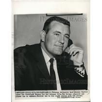 1956 Press Photo Bernie Parrish asks to be released from Browns football team