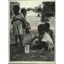 1961 Press Photo Children of Migrant Workers, Pocomoke City, Maryland