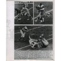 1963 Press Photo Giants' Frank Gifford in action during game with the Steelers