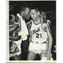 1964 Press Photo Blanton Simmons of North fouls out of state semifinal