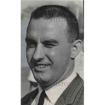 1964 Press Photo Gregg Dufek Pulaski High School coach named as football coach.