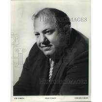 1972 Press Photo Abe Gibron, Head Coach, Chicago Bears football team - mjt08752