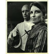 1978 Press Photo Michel and Nancy Sebastiani start fencing academy in Houston